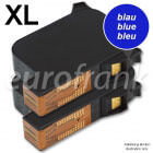 eurofrank ink cartridge set XL 42ml blue for Francotyp-Postalia PostBase 30, 45, 65 franking machine